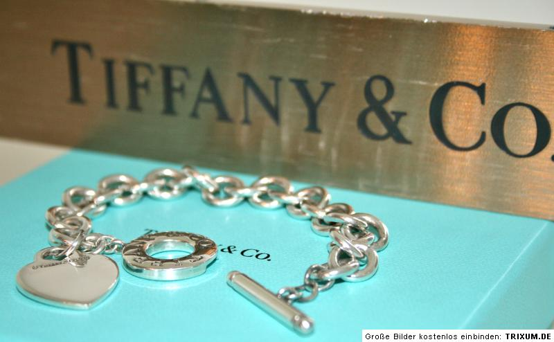 TIFFANY & Co. Heart Tag Toggle HERZ Armband Silber | eBay