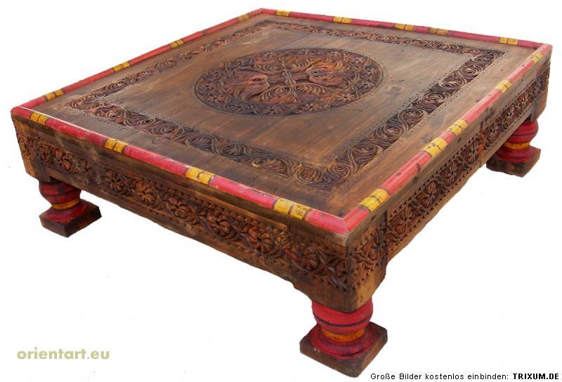 orientalische tisch teetisch wohnzimmertisch 80x80 pj ebay. Black Bedroom Furniture Sets. Home Design Ideas