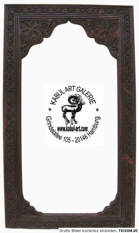 Orientalisch afghanistan spiegel holz rahmen 79x50 cm ebay - Spiegel orientalisch ...