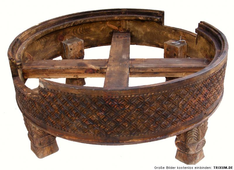 118 cm antik Orient Messing bronze Couchtisch Teetisch