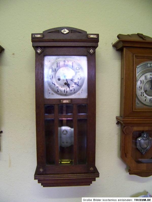 antike junghans wanduhr westminster uhrwerk b11 um 1910 eur 225 00 picclick de. Black Bedroom Furniture Sets. Home Design Ideas