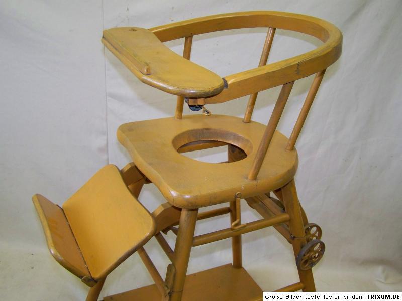 alter kinderhochstuhl kinderstuhl antik holz kinder stuhl hochstuhl spieltisch ebay. Black Bedroom Furniture Sets. Home Design Ideas