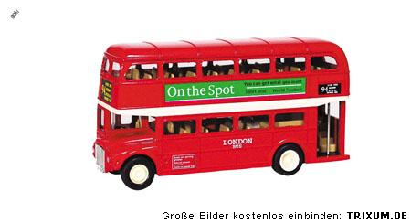 london bus rot 12cm oldtimer bus roter doppeldecker. Black Bedroom Furniture Sets. Home Design Ideas