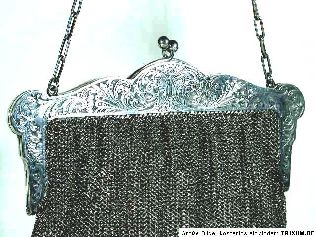 Details zu Gideon BEK Pforzheim Jugendstil Tasche ° Kettentasche ° art nouveau bag